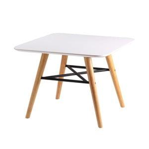 Biały stolik z nogami w dekorze jasnego drewna sømcasa Andy