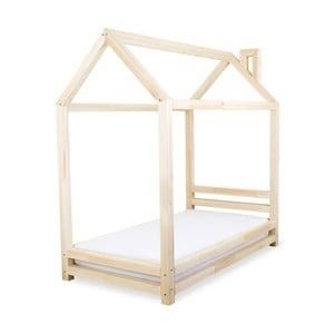 Łóżko dziecięce z naturalnego drewna sosnowego Benlemi Happy,90x200cm