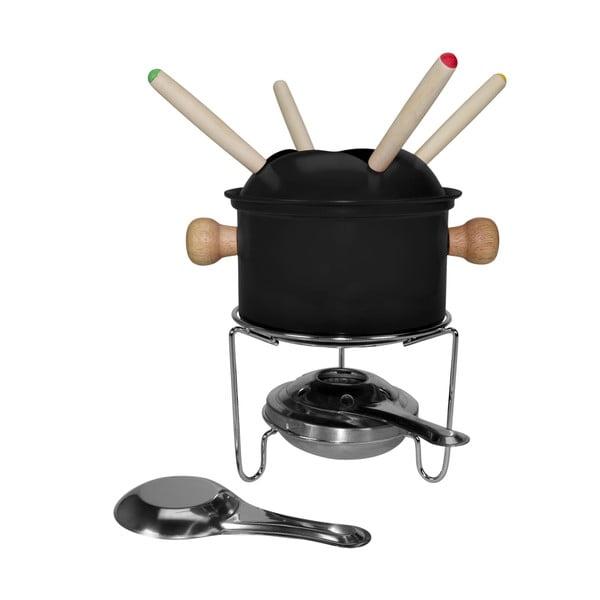 Zestaw do fondue dla 4 osób Gusta, czarny
