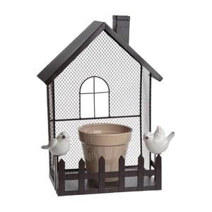 Metalowa dekoracja z doniczką Flower Pot House