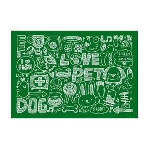 Dywan winylowy  Love Pet, 52x75 cm