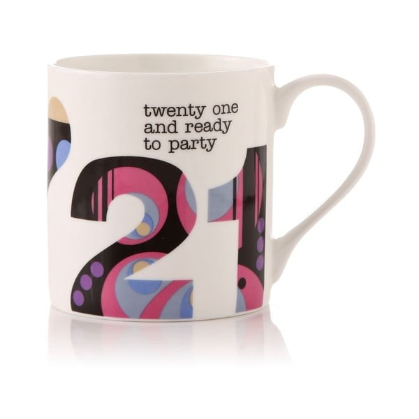 Porcelanowy kubek Twenty one and ready to party