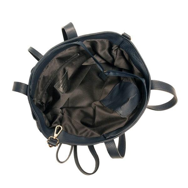 Granatowa torebka skórzana Andrea Cardone Metteo