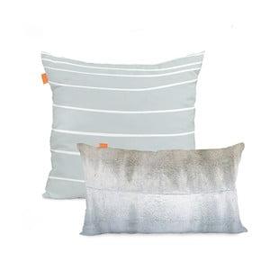 Zestaw 2 bawełnianych poszewek na poduszki Blanc Quartz, 50x50cm