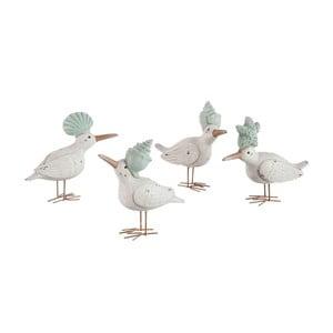 Zestaw 4 dekoracji Bird Shell