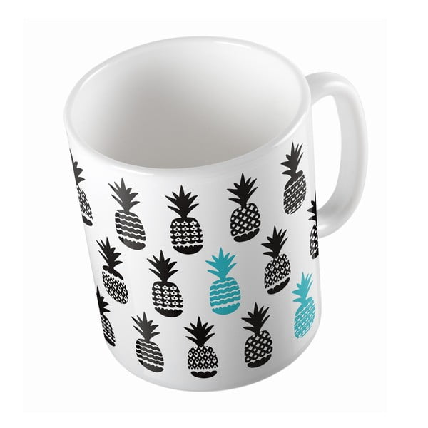 Kubek ceramiczny Black Pineapples, 330 ml