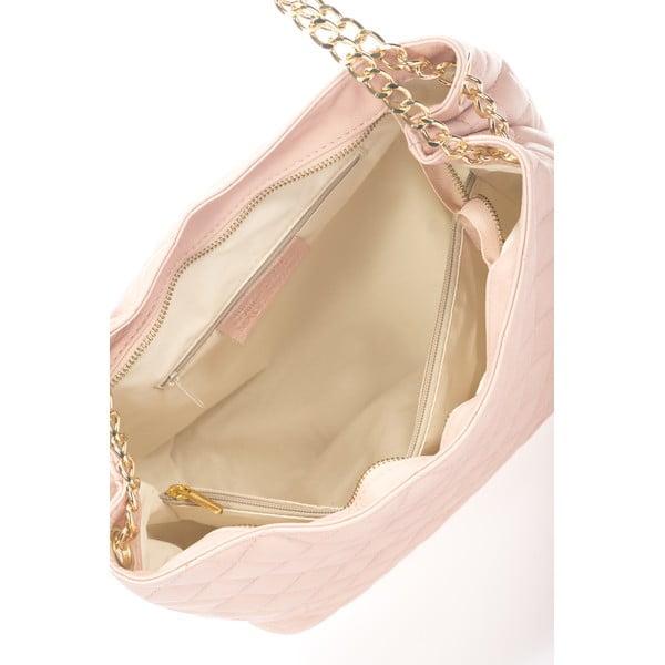 Torebka skórzana Uriena, różowa