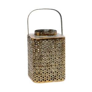 Lampion metalowy Antique, 15x15x23 cm