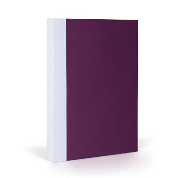 Notes FANTASTICPAPER A5 Aubergine/White, gładki