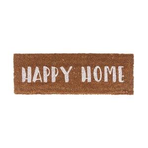 Wycieraczka z białym napisem PT LIVING Happy Home, 26x75cm