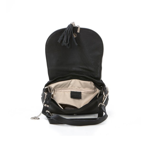 Skórzana torebka Paolo, czarna