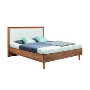 Białe łóżko 2-osobowe Mazzini Beds Scandi, 140x200cm