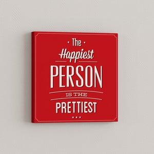Obraz Najszczęśliwszy człowiek, 33x33 cm