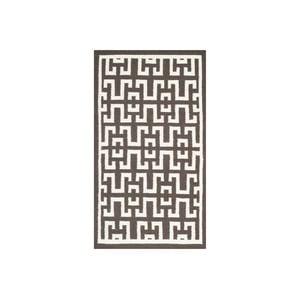 Wełniany dywan Safi 91x152 cm, brązowy