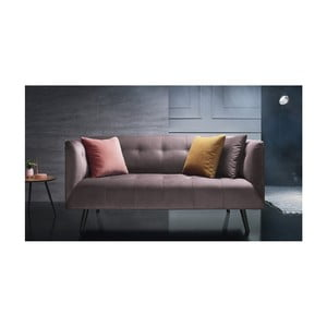 Różowa sofa 3-osobowa Bobochic Paris Paris