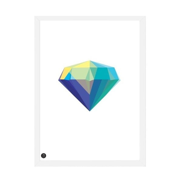 Plakat Diamond White, 50x70 cm