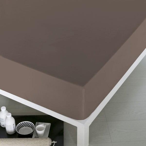 Prześcieradło Home Brown, 100x200 cm