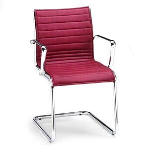 Bordowe krzesło biurowe z podłokietnikami Chrono Zago