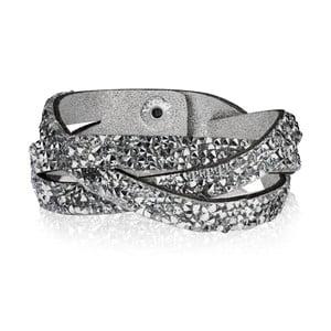 Damska bransoletka w kolorze srebra Runaway Triple, 21 cm