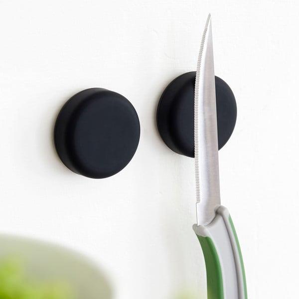 Zestaw 2 magnetycznych uchwytów Steel Function Round Black