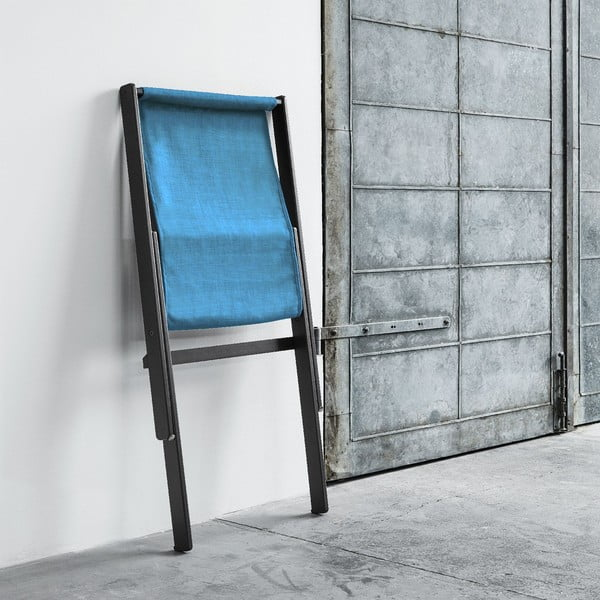 Fotel składany Karup Boogie Black/Horizon Blue