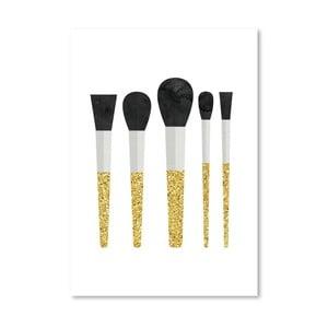 Plakat Americanflat Makeup Brushes, 30x42 cm