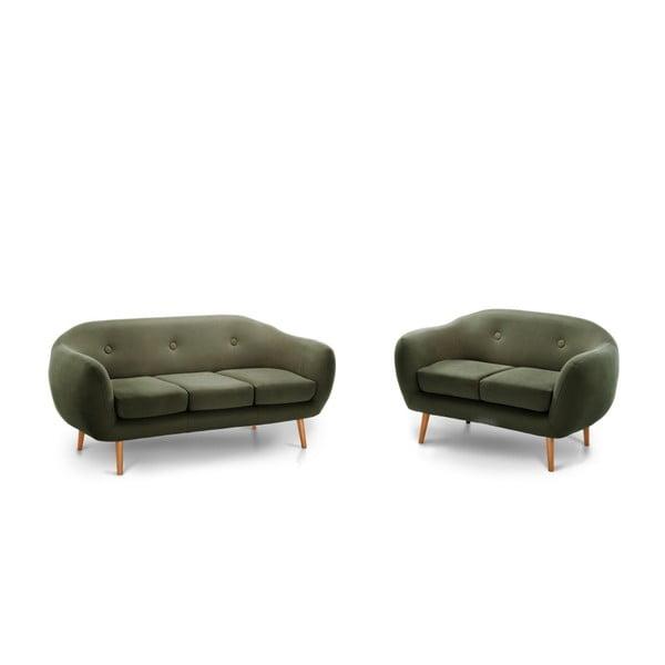 Oliwkowa sofa Scandi by Stella Cadente Maison