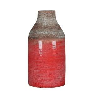 Czerwony wazon Mica Belinda, 30x16cm