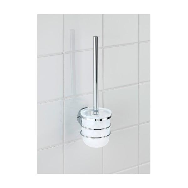 Samoprzyczepny stojak ze szczotką do WC Wenko Turbo-Loc, do 40 kg