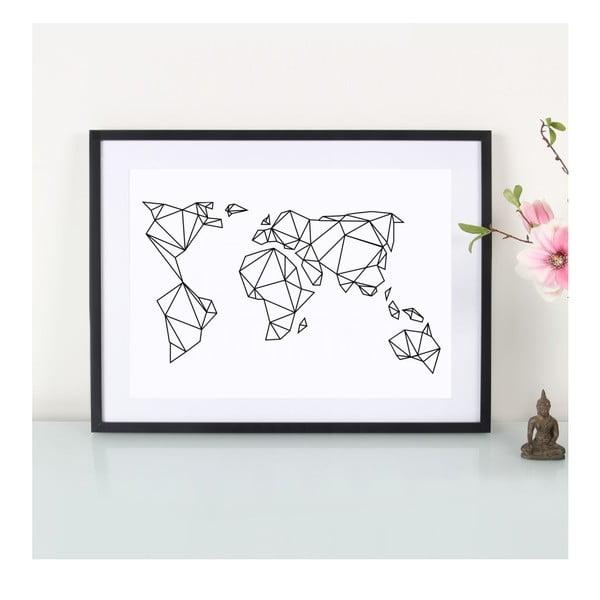 Plakat Geometrische Erde, A3