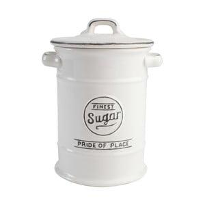 Biały pojemnik ceramiczny na cukier Pride of Place