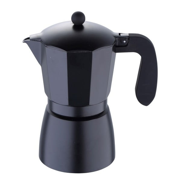 Czarna kawiarka Bergner Florencia, 12 filiżanek