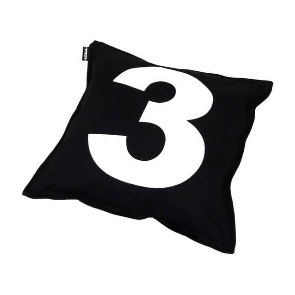 Poduszka Lona Number 40x40 cm, czarna