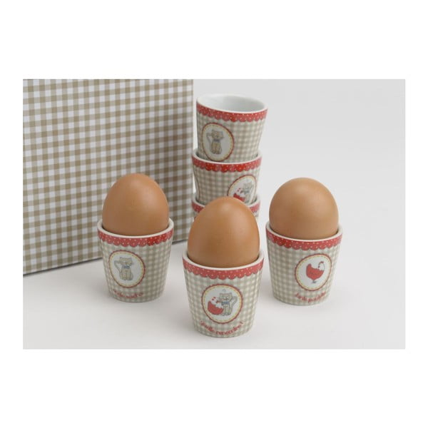 Zestaw kieliszków na jajka Petit Chat, 6 szt.