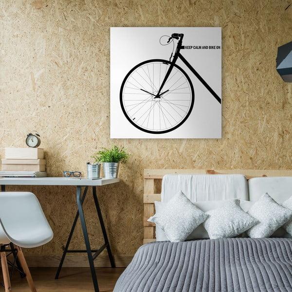 Zegar ścienny Bike White, 80x80 cm