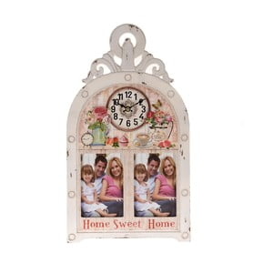 Zegar ścienny z ramką na zdjęcie Sweet Home
