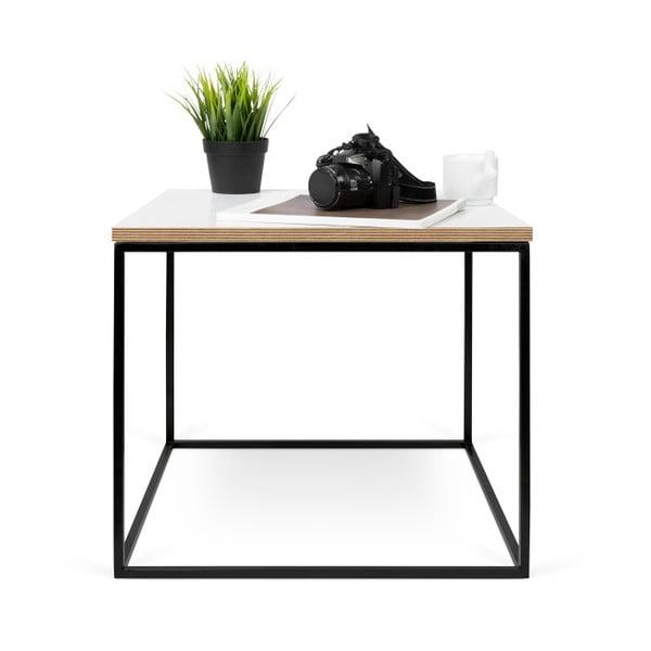 Biały stolik z czarnymi nogami TemaHome Gleam, 50 cm