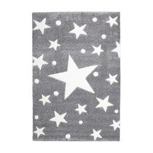 Szary dywan dziecięcy Happy Rugs Star Constellation, 80x150 cm