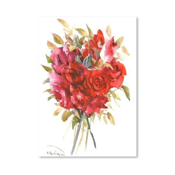 Plakat Burgundy Red Roses (projekt Suren Nersisyan)