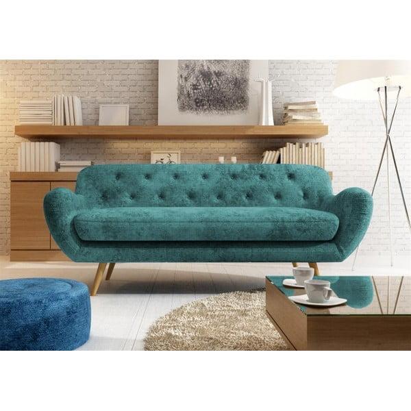 Jasnobrązowa   sofa dwuosobowa Wintech Zefir