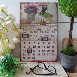 Metalowy kalendarz stołowy Travel the World