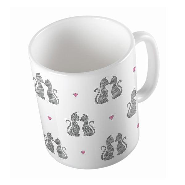 Kubek ceramiczny Cats in Love, 330 ml