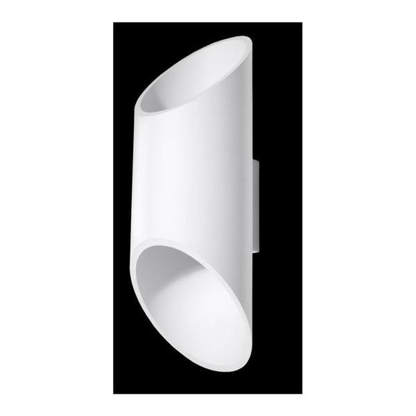 Biały kinkiet Nice Lamps Nixon, długość 30 cm