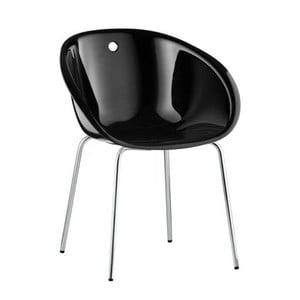 Czarne krzesło Pedrali Gliss