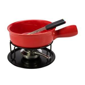 Zestaw do fondue dla 4 osób Gusta, czerwony