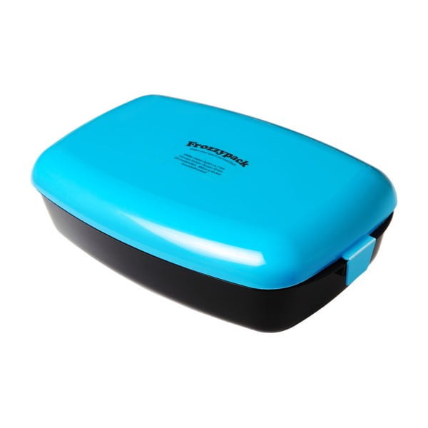 Pojemnik z wkładem chłodzącym Frozzypack no. 2, black/turquoise