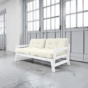 Sofa rozkładana Karup Step White/Natural