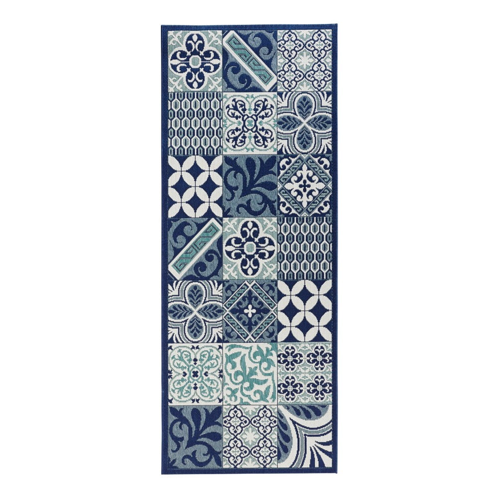 niebieski chodnik do kuchni zala living accent 80x200 cm