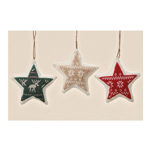 Zestaw 3 wiszących dekoracji Trio Star