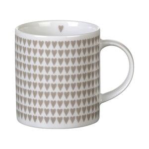 Szary porcelanowy kubek Parlane Hearts, 8,5 cm